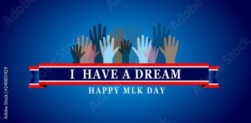 Martin Luther King Day Illustration Background Stock Image And