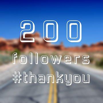 200 followers note