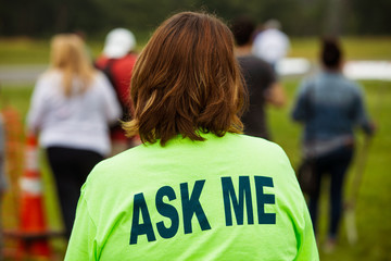 Ask Me Staff Wall mural