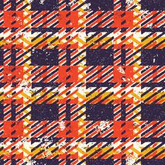 Grunge tartan plaid abstract vector seamless pattern
