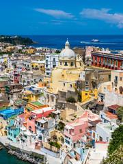 Italy, Campania, Gulf of Naples, Phlegraean Islands, Procida Island, Harbour, Marina di Corricella