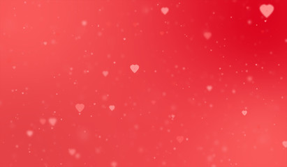hearts on red background. flat style. Valentine day background. hearts valentine sign. hearts wallpaper.