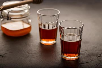 Black Tea with Honey - Horizontal Image