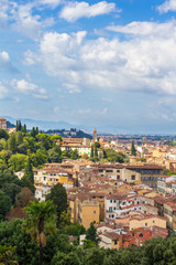 Aluminium Prints European Famous Place Panoramic view of Florence from Piazzale Michelangelo