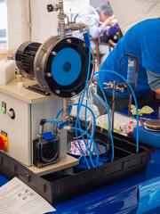 Versuchsaufbau in der Experimentierwerkstatt