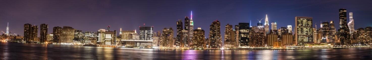 A beautiful night pano Image of New York City