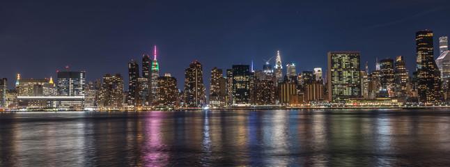 A night pano Image of New York City