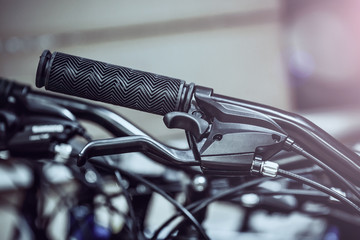 Bicycle handlebar close-up