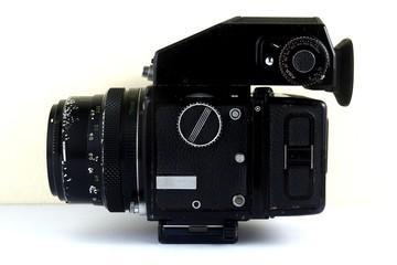 Vintage medium format film camera.
