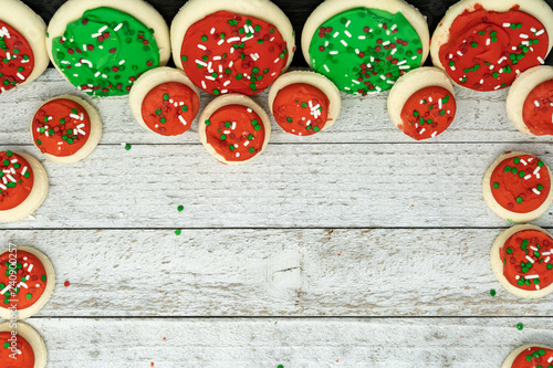 Background Copy Space Banner Of Iced Buttercream Christmas Holiday