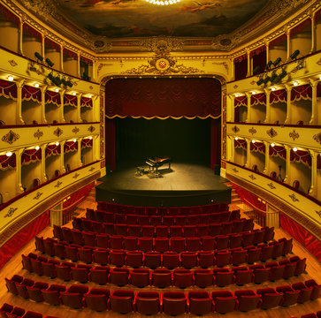 Croatian National Theatre in Sibenik old town