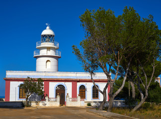 San Antonio Cape lighthouse in Spain