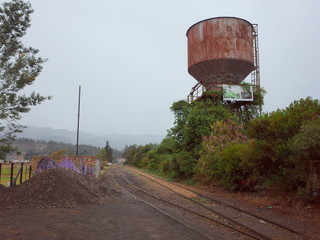 The abandonded railway tracks at Suesca Rocks, Colombia