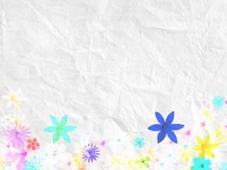 Papier Blumen zerknittert