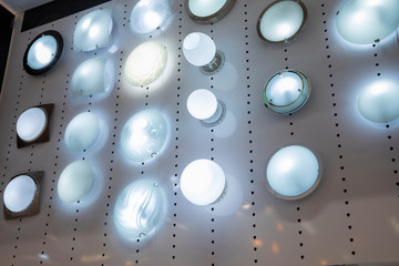 Display of lamps
