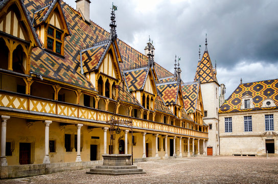 The Hospices of Beaune (historic hospital), in Beaune, Burgundy, France