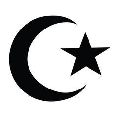 Religion-Muslim Moon & Star