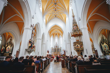 wedding at a catholic church in germany