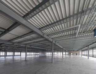 Big empty new warehouse.