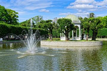 Springbrunnen im Kadriorg Park, Tallinn, Estland