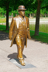 Goldene Skulptur im Park Katharinental, Tallinn, Estland