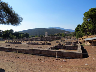 Europe, Greece, Epidaurus, the ruins of the ancient  temple of Asclepion, once people came here for healing