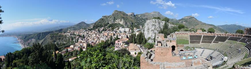Panorama: Taormina Fototapete
