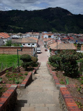 A view over the town of Mongui, Colombia