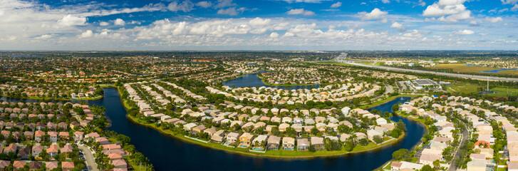 Aerial photo of residential neighborhoods in Pembroke Pines Florida