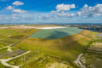 Aerial photo of a Florida trash landfill