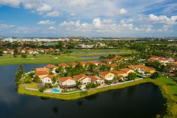 Aerial photo homes in Pembroke Pines Florida