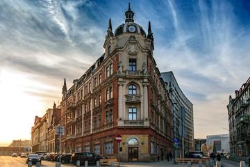Obraz Charakterystyczny budynek w centrum Katowic, Śląsk, Polska - fototapety do salonu