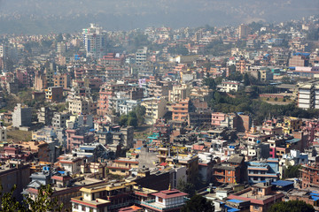 View of the Kathmandu, the capital of Nepal