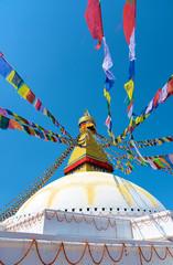 Famous Buddhist Swayambhunath Stupa on the outskirts of Kathmandu in Nepal