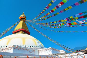 Famous Buddhist Swayambhunath Stupa, in Kathmandu, Nepal