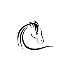 horse face simple icon