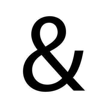Ampersand symbol isolated on white