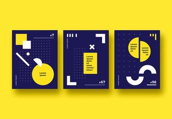 Modern Shapes Poster Layout Set