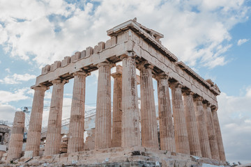Fotobehang The Acropolis of Athens, Greece, with the Parthenon Temple