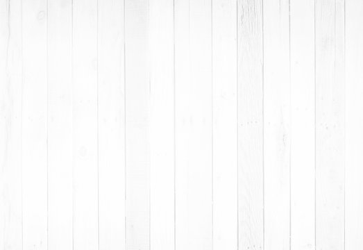 White wood surface with long boards lined up. Light wooden planks on a wall or floor with grain and neutral flat faded tones.
