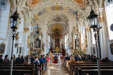 wedding at a catholic church in germany
