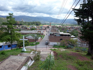 A view over the town of Nobsa, Colombia