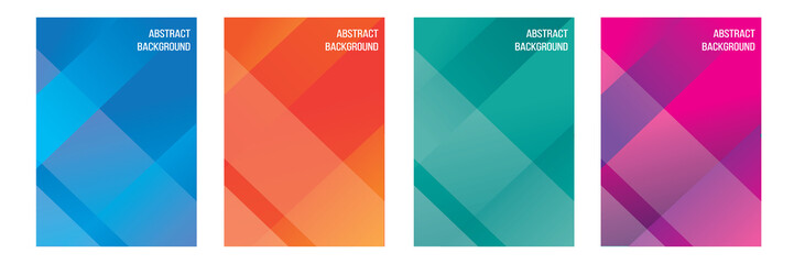 set of abstract background with soft gradient color