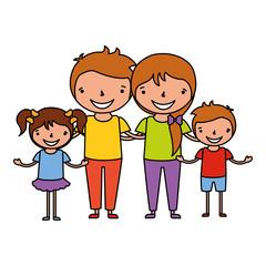 family characters cartoon
