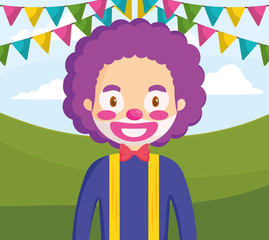 circus clown funny character