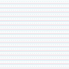 Handwriting Paper Seamless Pattern - Blank lines or sheet of handwriting or cursive practice paper for back to school
