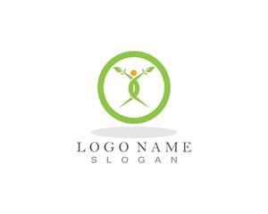 Healthy people life logo
