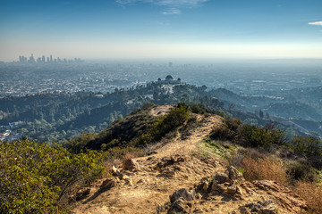 Griffith Observatory from Mount Hollywood Trail