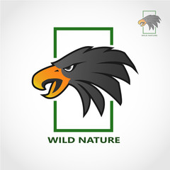 This logo is themed outdoors with the head of an eagle as its logo with a rectangular frame. This logo is good to use as a company logo and a logo of a community of nature or animal lovers.