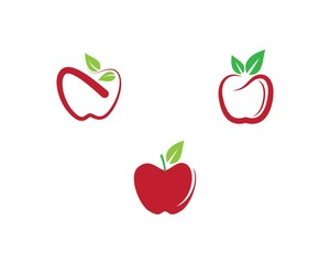 Apple  logo template vector  icon illustration